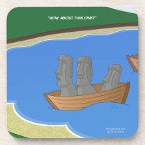 Origin of Easter Island Heads Coasters