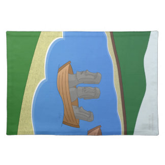 Origin of Easter Island Heads Placemat