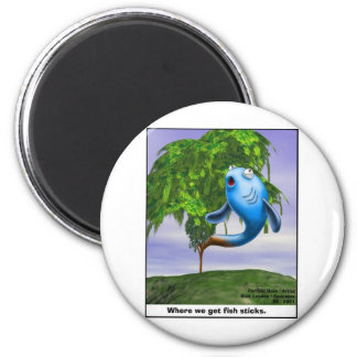 Origin OF Fishsticks Funny Tees & Gifts 2 Inch Round Magnet