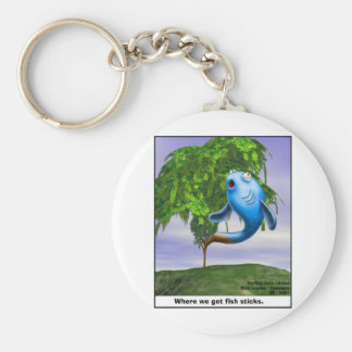 Origin OF Fishsticks Funny Tees & Gifts Keychain