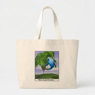 Origin OF Fishsticks Funny Tees & Gifts Large Tote Bag
