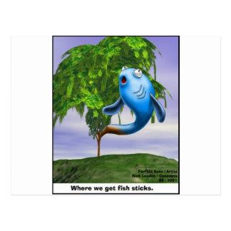 Origin OF Fishsticks Funny Tees & Gifts Postcard