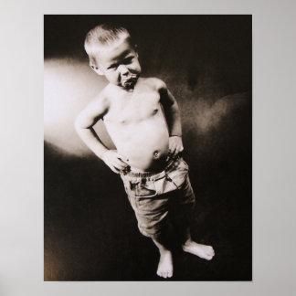 """Origin of Man"" Double Dog Dare Little Boy Print"