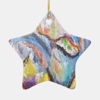 Origin of Species (abstract expressionism) Ceramic Ornament