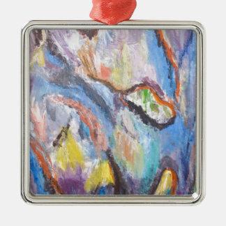 Origin of Species (abstract expressionism) Metal Ornament