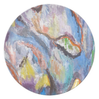 Origin of Species abstract expressionism Dinner Plates