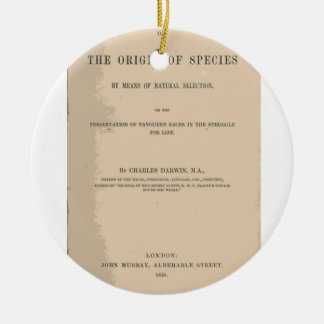 Origin of Species by Means of Natural Selection Ceramic Ornament