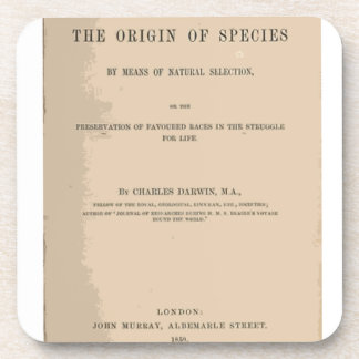Origin of Species by Means of Natural Selection Coasters