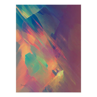 Origin of thought - abstract painting print poster