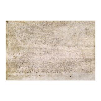 ORIGINAL 1215 Magna Carta British Library Canvas Print