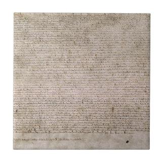 ORIGINAL 1215 Magna Carta British Library Ceramic Tile