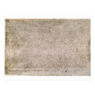 ORIGINAL 1215 Magna Carta British Library Postcard