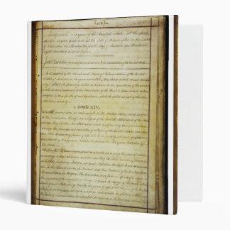 ORIGINAL 14th Amendment U.S. Constitution 3 Ring Binder