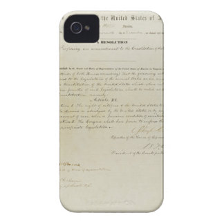 ORIGINAL 15th Amendment U.S. Constitution iPhone 4 Covers