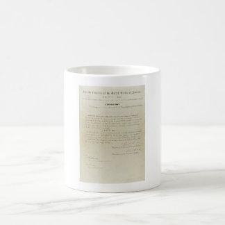 ORIGINAL 15th Amendment U.S. Constitution Classic White Coffee Mug