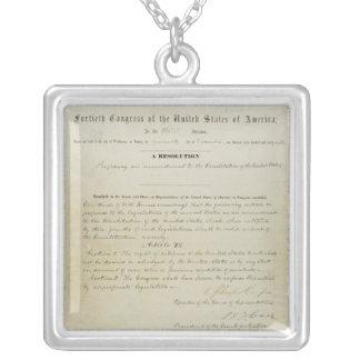 ORIGINAL 15th Amendment U.S. Constitution Custom Jewelry