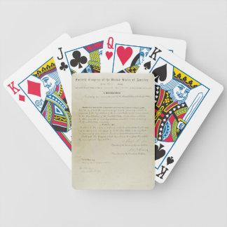ORIGINAL 15th Amendment U.S. Constitution Deck Of Cards