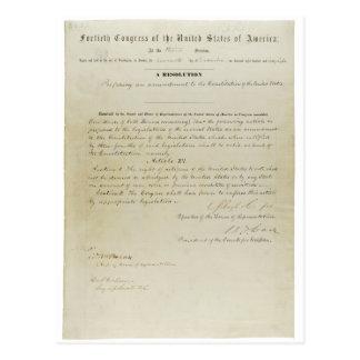 ORIGINAL 15th Amendment U.S. Constitution Postcard
