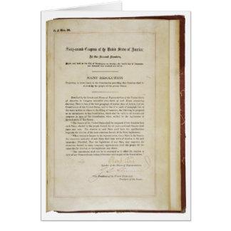 ORIGINAL 17th Amendment U.S. Constitution Card