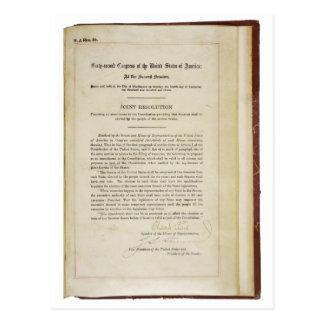ORIGINAL 17th Amendment U.S. Constitution Postcard
