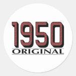 Original 1950 etiquetas redondas