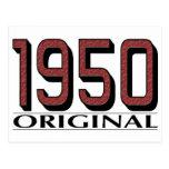 Original 1950 tarjeta postal