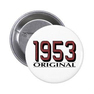 Original 1953 pin redondo de 2 pulgadas