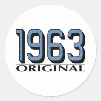 Original 1963 pegatinas redondas