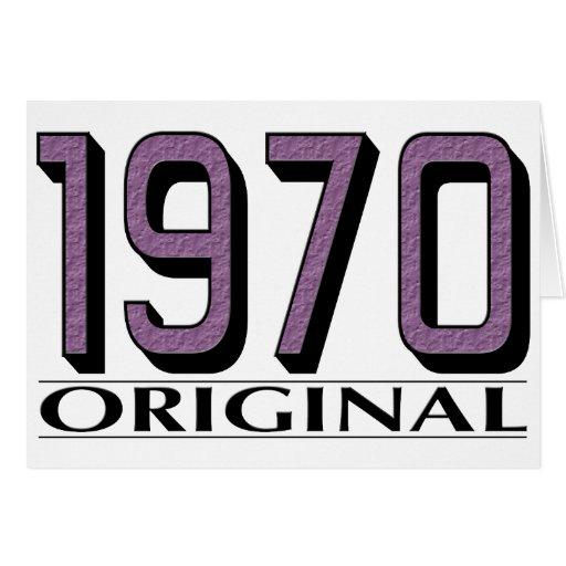 Original 1970 tarjetón
