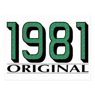 Original 1981 postales