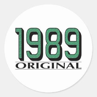 Original 1989 etiquetas redondas