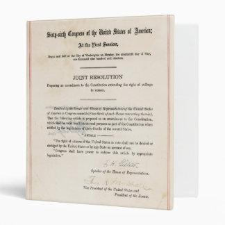 ORIGINAL 19th Amendment U.S. Constitution Binder