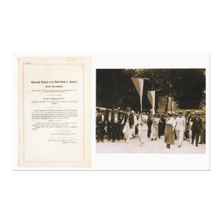 ORIGINAL 19th Amendment U.S. Constitution Canvas Print