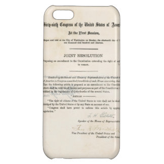 ORIGINAL 19th Amendment U.S. Constitution iPhone 5C Case