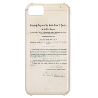 ORIGINAL 19th Amendment U.S. Constitution iPhone 5C Cover