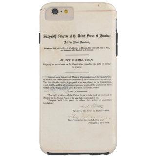 ORIGINAL 19th Amendment U.S. Constitution Tough iPhone 6 Plus Case