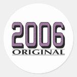 Original 2006 pegatinas redondas