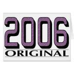 Original 2006 tarjetas