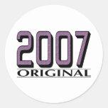 Original 2007 etiqueta