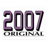 Original 2007 tarjeta postal