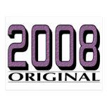 Original 2008 tarjeta postal