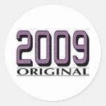 Original 2009 etiqueta redonda