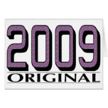 Original 2009 tarjeta