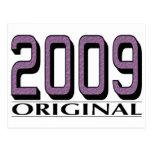 Original 2009 tarjeta postal