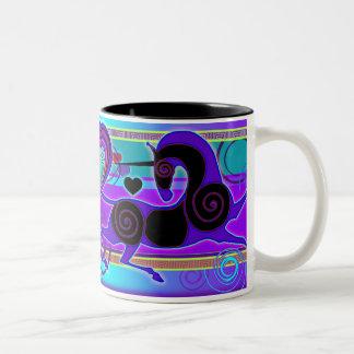 Original 2014 Valentine's Day UNICORN MinkMug Two-Tone Coffee Mug