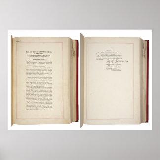 ORIGINAL 20th Amendment U.S. Constitution Poster