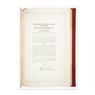 ORIGINAL 22nd Amendment U.S. Constitution Stretched Canvas Prints