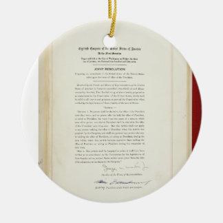 ORIGINAL 22nd Amendment U.S. Constitution Ceramic Ornament
