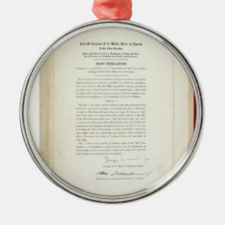 ORIGINAL 22nd Amendment U.S. Constitution Metal Ornament