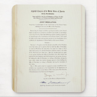 ORIGINAL 22nd Amendment U.S. Constitution Mouse Pad